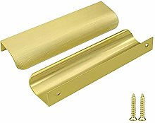 Goldenwarm 10x Aluminum 128mm Kitchen Handles Gold