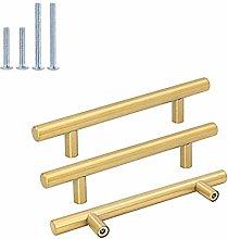 Goldenwarm 128mm Hole Centers Brushed Brass