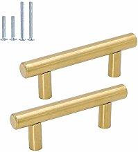 Goldenwarm 15pcs Brushed Brass Cabinet Cupboard