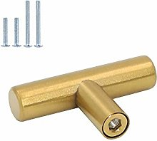 Goldenwarm 15pcs Brushed Brass Single Bar Cabinet