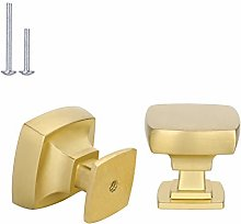 goldenwarm 20 Pack Square Cabinet Knobs, Gold