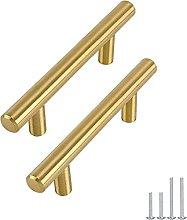 Goldenwarm 25pcs Brushed Brass Kitchen Cabinet