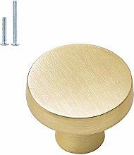 goldenwarm Cabinet Knob Brushed Brass Drawer Knobs