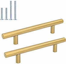 goldenwarm Gold Cabinet Handles Brushed Brass Door