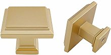 goldenwarm Kitchen Cabinet Knobs Brass Drawer
