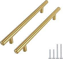 Goldenwarm T-bar, furniture handles, hollow
