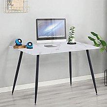 GOLDFAN Computer Desk Glass Marble Writing Desk