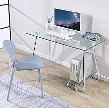 GOLDFAN Computer Desk Modern Glass Student Study