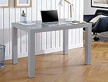 GOLDFAN Computer Desk Office Study Desk High Gloss