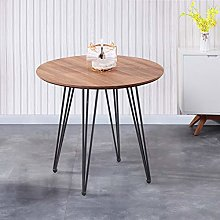 GOLDFAN Dining Table Wooden Round Kitchen Table