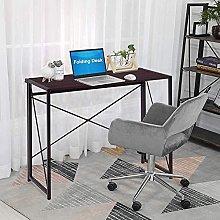 GOLDFAN Folding Desk Lightweight Portable Wood