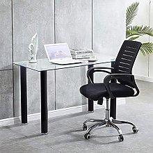 GOLDFAN Glass Computer Desk Study Writing Table