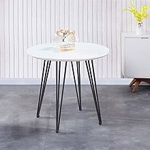 GOLDFAN High Gloss Dining Table Round Kitchen