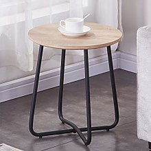 GOLDFAN Modern Side End Table Small Round Coffee