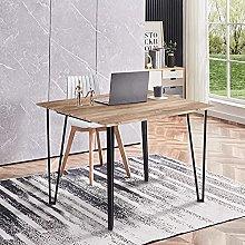 GOLDFAN Rectangle Desk Table Modern Wood 110cm