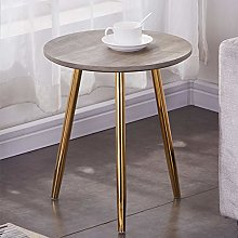 GOLDFAN Retro Wood Side End Table for Sofa Small