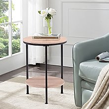 GOLDFAN Round Side Tables Small Coffee Table with