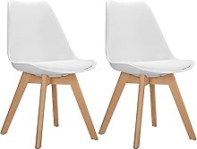 GOLDFAN Set of 2 Dining Chairs Modern Kitchen