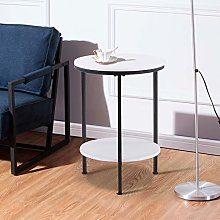GOLDFAN Small Side Table Modern Round Coffee Table