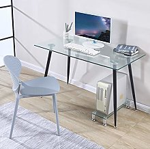 GOLDFAN Tempered Glass Computer Desk Modern