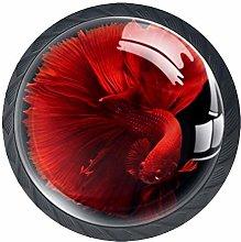 Goldfish Red Crystal Drawer Handles Furniture