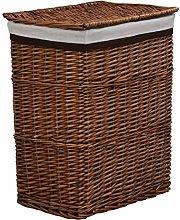 Goliraya Stackable Laundry Basket Brown Willow