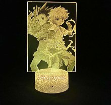 Gon and Killua 3D Illusion Lamp Anime Hunter X USB