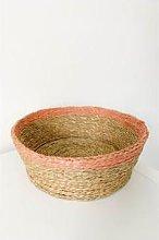 Gone Rural - Blush Trim Bread Basket Medium - Pink