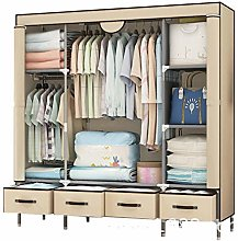 Gong F Canvas Wardrobe Cupboard Clothes Storage