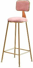 GONGFF Bar stool, simple gold bar stool backrest