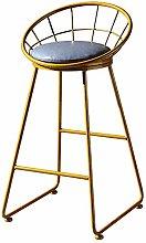 GONGFF Bar stool, wrought iron front desk high