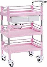 GONGFF Beauty Salon Cart Trolley 3 Tier Beauty