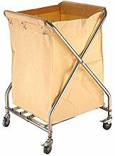 GONGFF Beauty Salon Cart Trolley Folding Linen
