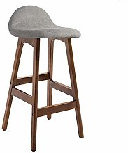 GONGFF Modern Bar Stool Front Desk Chair Solid
