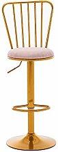 GONGFF Nordic Light Bar Chair, Adjustable Height