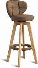 GONGFF Retro Bar Chair Rotating Front Desk