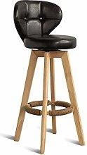 GONGFF Solid Wood Home High Stool Bar Stool Retro