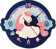 gongyu Wall Clock 3D Cute Sweet Dream Unicorn