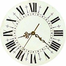 gongyu Wall Clock 3D Retro Rustic Round Wall Clock