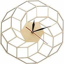gongyu Wall Clock 3D Wooden Wall Clock Home