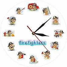 gongyu Wall Clock Art Firefighter Characters Wall