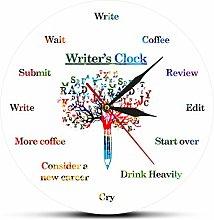 gongyu Wall Clock Art Time To Write Funny Wall