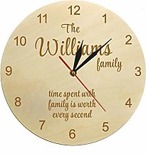 gongyu Wall Clock Design Time Spent With Family Is