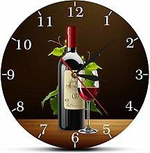 gongyu Wall Clock Digital Red Wine Winery Drunkery