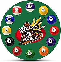 gongyu Wall Clock For Bathroom Billiard Balls