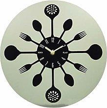 gongyu Wall Clock Home Decor Luminous Wooden Wall