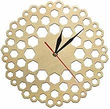 gongyu Wall Clock Modern Farmhouse Kitchen Wood