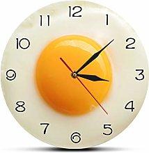 gongyu Wall Clock Modern Sunny Side Up Fried Egg