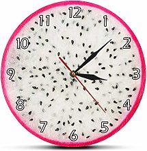 gongyu Wall Clock Vintage Dragon Fruit Cutting