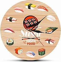 gongyu Wall Clock Vintage Sushi Tasty Food Wall